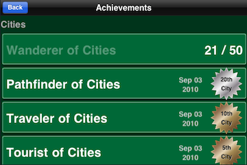 Another City Achievements Screen